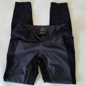 Prana Black and Grey Yoga Pants Women's Size Small